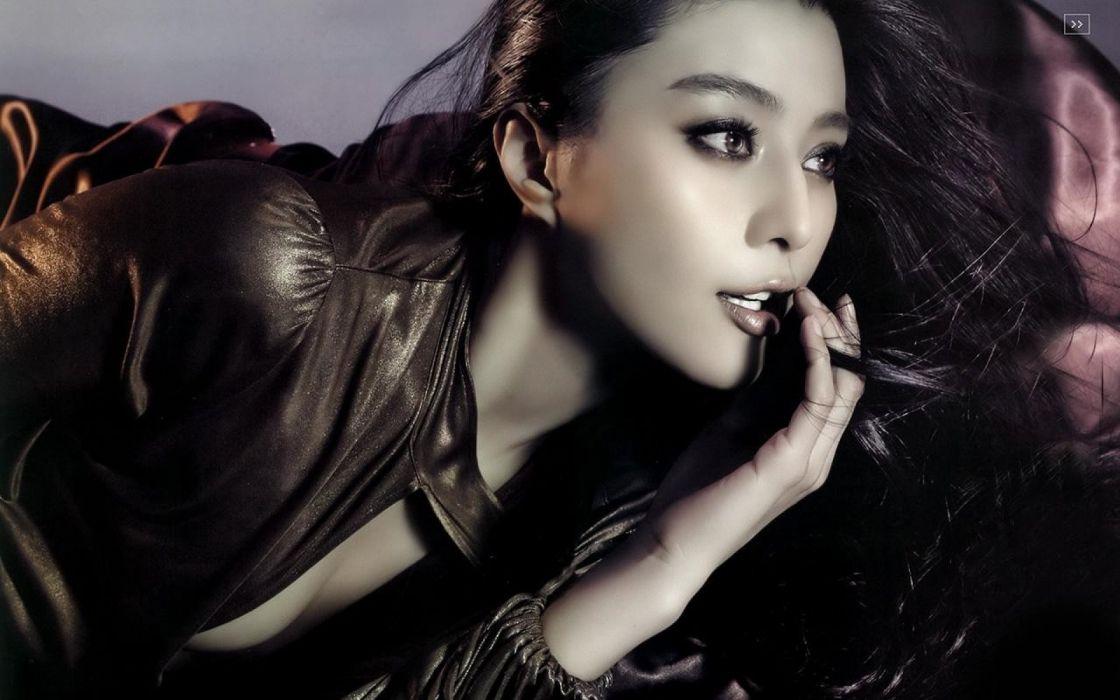 FACES - women girls brunette models wallpaper
