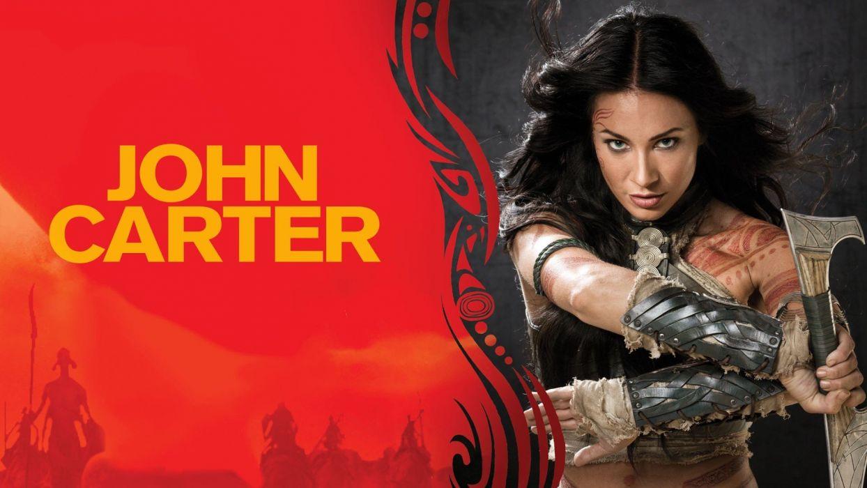Lynn Collins women girls brunette actresses movie film john carter swords wallpaper