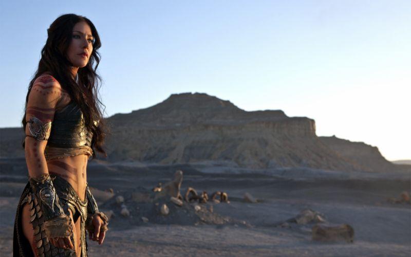 Lynn Collins women girls brunette actresses movie john carter desert wallpaper