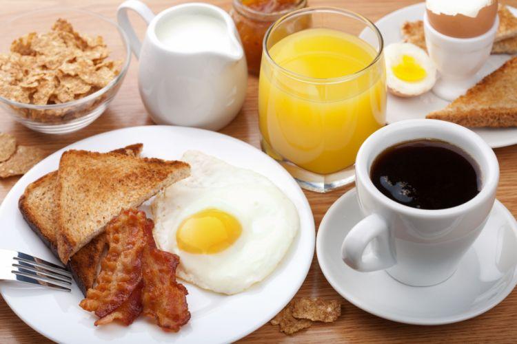 desayuno cafe huevo beicon zumo wallpaper