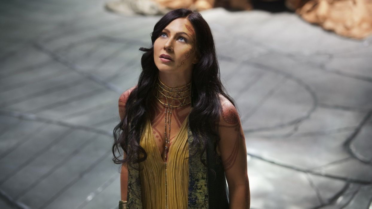 Lynn Collins women girls brunette actresses movie john carter looking wallpaper