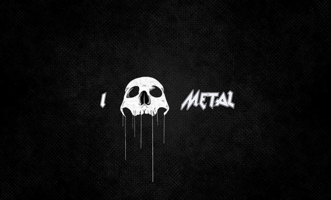 SKULLS - dark abstract love metal wallpaper