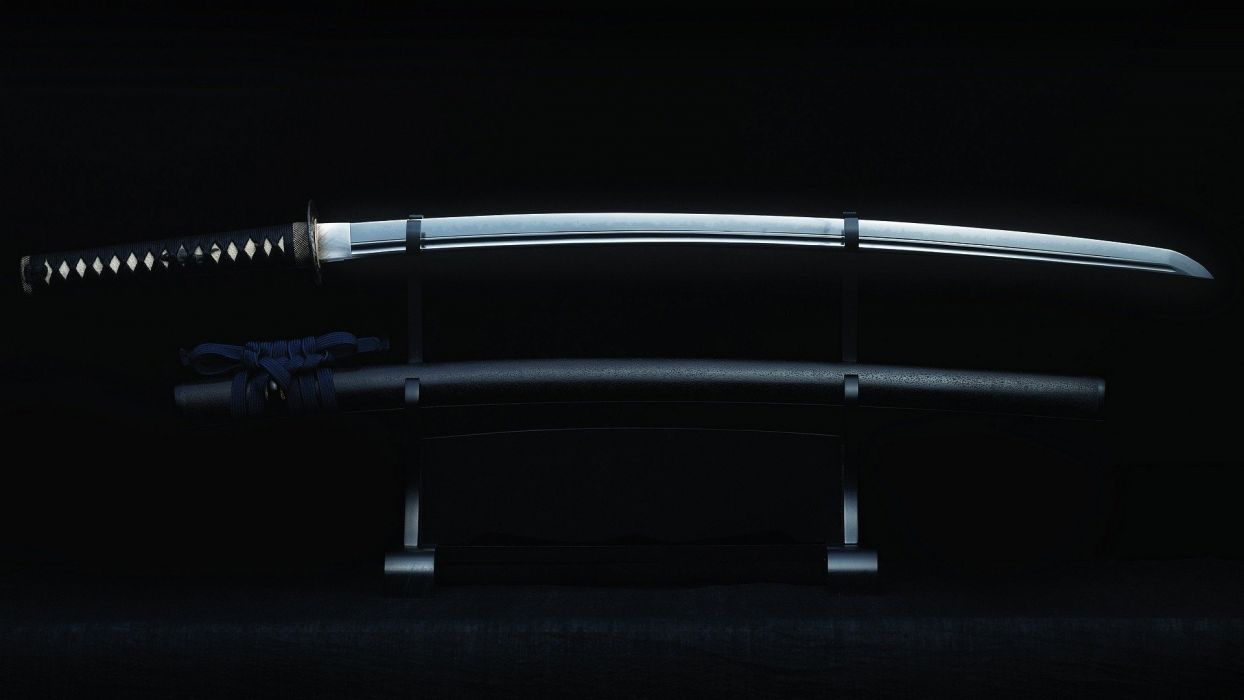 SWORDS - black katana blade wallpaper