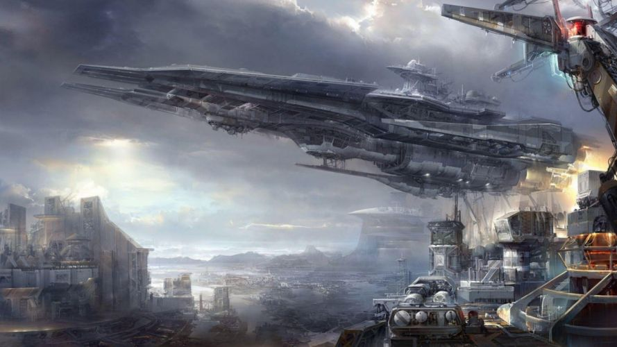 sci-fi fantasy art artwork science fiction futuristic original adventure fantasy wallpaper