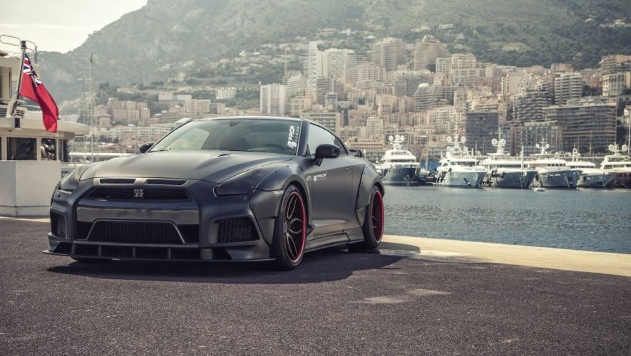 2015 Prior Design Nissan GT-R cars black bodykit modified wallpaper