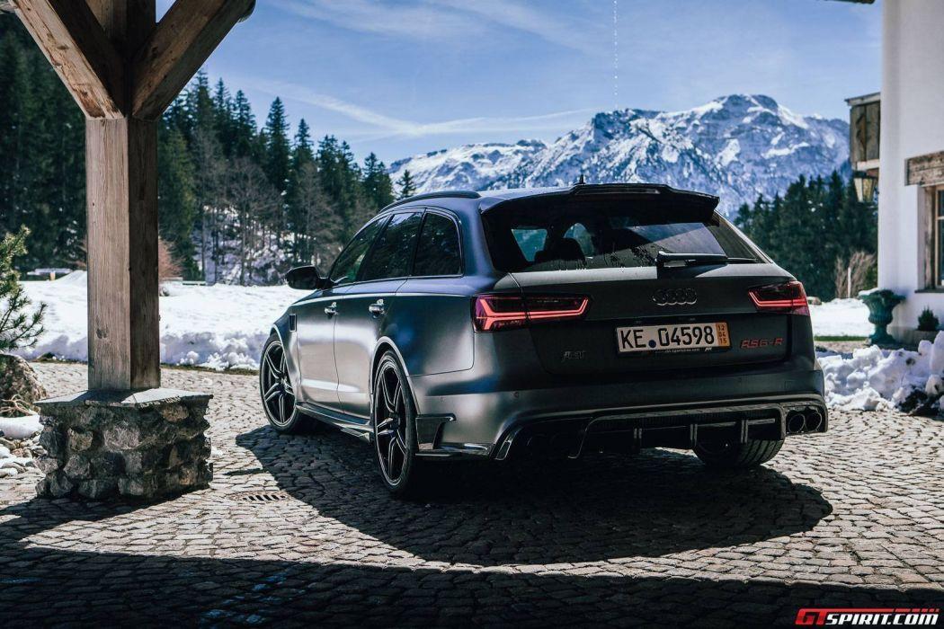 2015 Abt Audi Rs6 R Wagon Cars Black Matt Modified Wallpaper