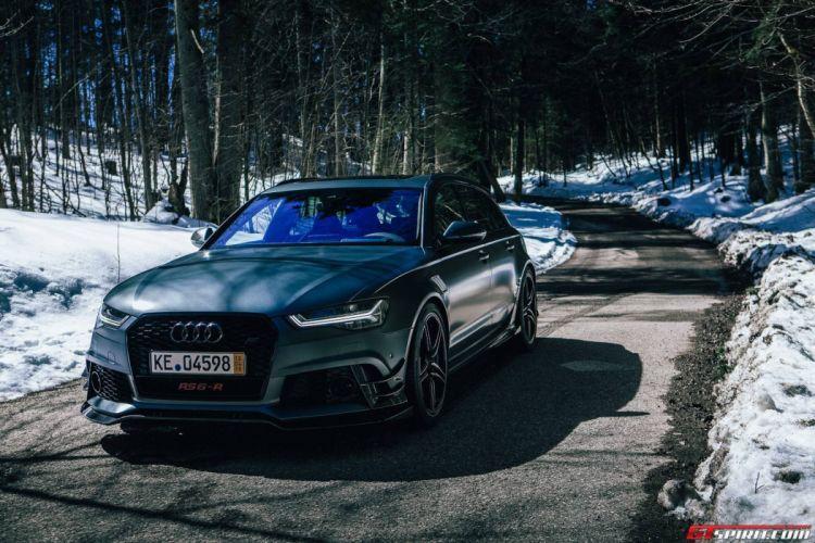 2015 ABT Audi RS6-R wagon cars black matt modified wallpaper