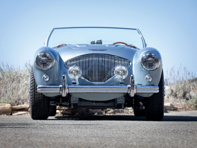 1955 Austin Healey 100M Le-Mans Roadster NB6 cars classic roadster wallpaper