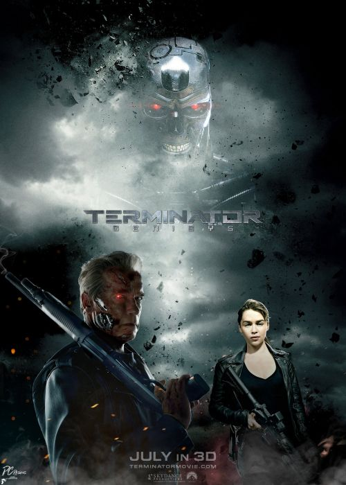 TERMINATOR GENISYS sci-fi futuristic action fighting warrior robot cyborg 1genisys poster wallpaper
