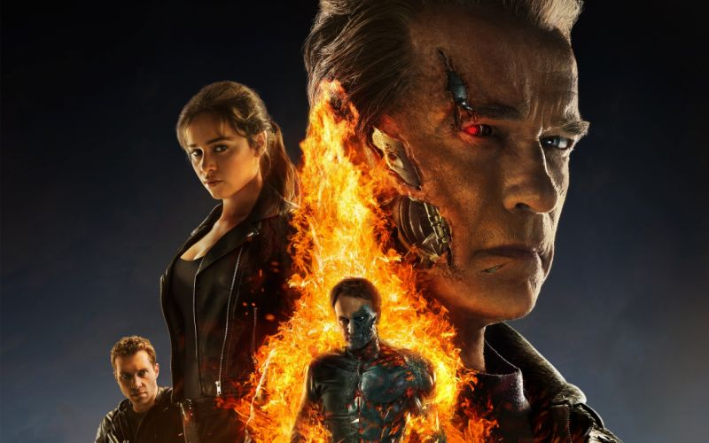 TERMINATOR GENISYS sci-fi futuristic action fighting warrior robot cyborg 1genisys wallpaper