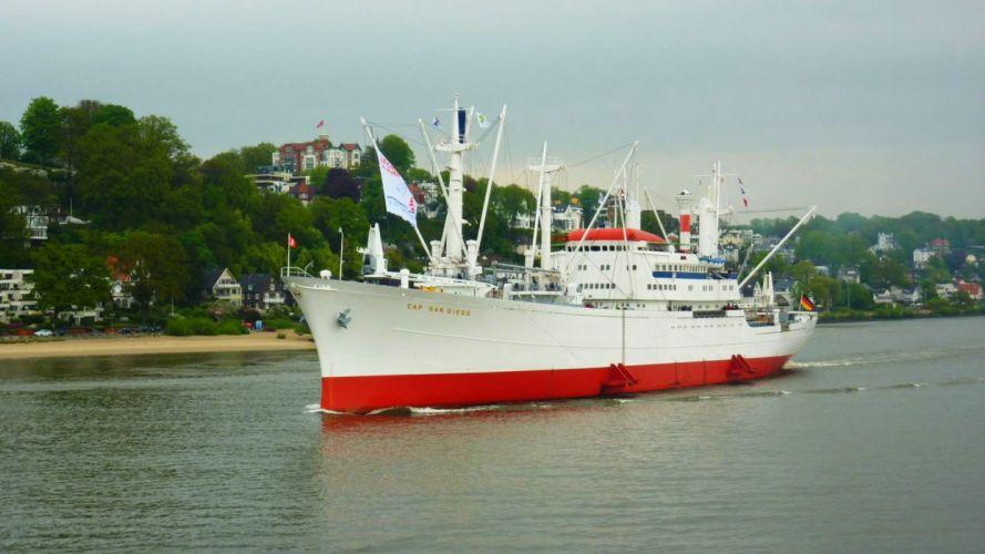 CapSanDiego Hamburg ship freighter oldtimer wallpaper