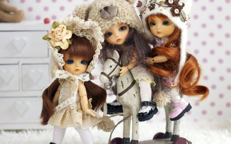 dolls cute girls wallpaper