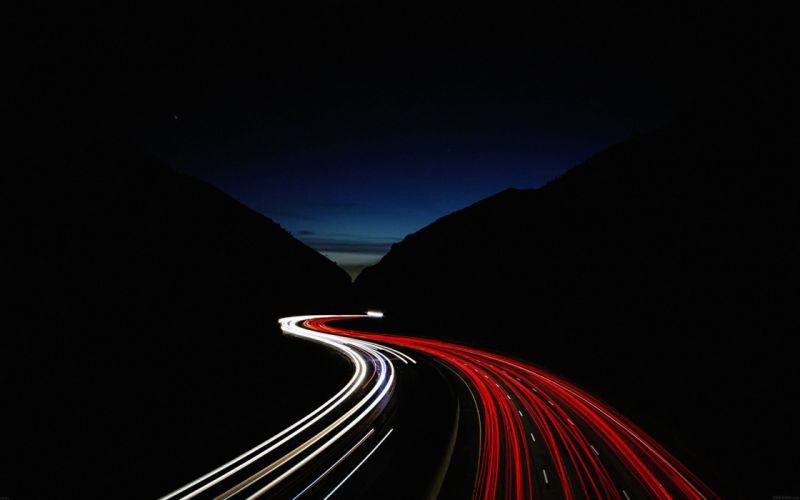 street-car-lights-night wallpaper
