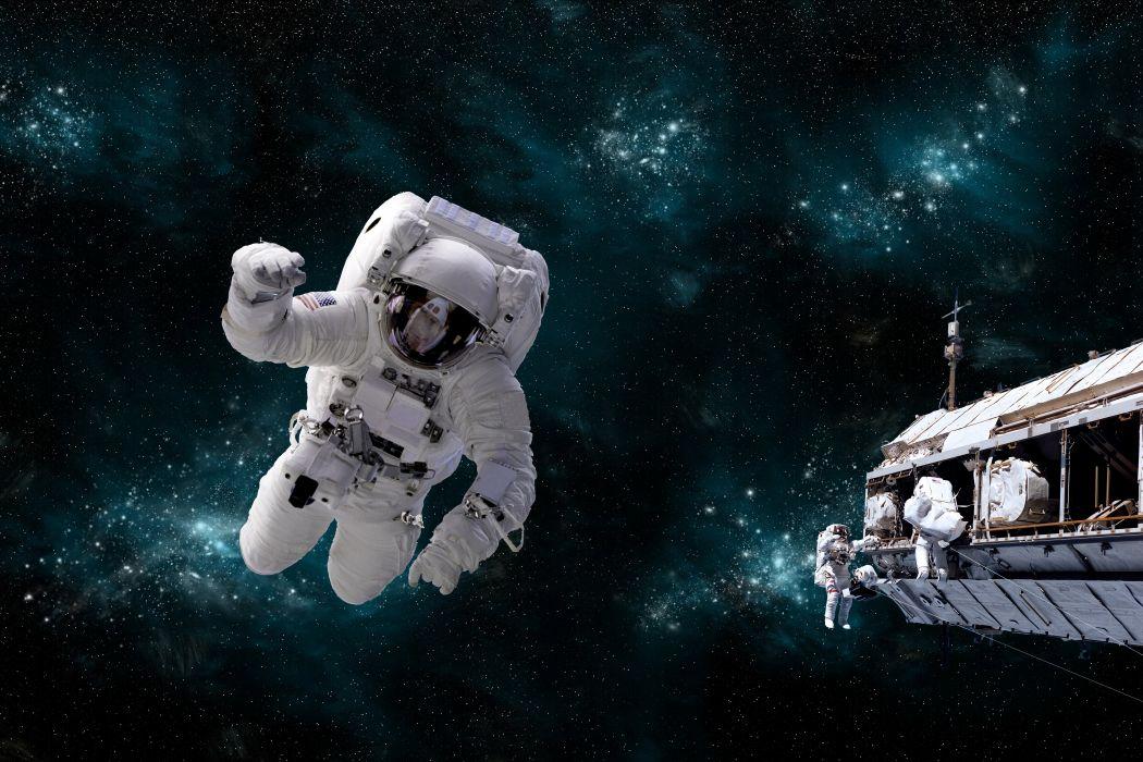 astronaut sci-fi space art artwork technics spaceship wallpaper