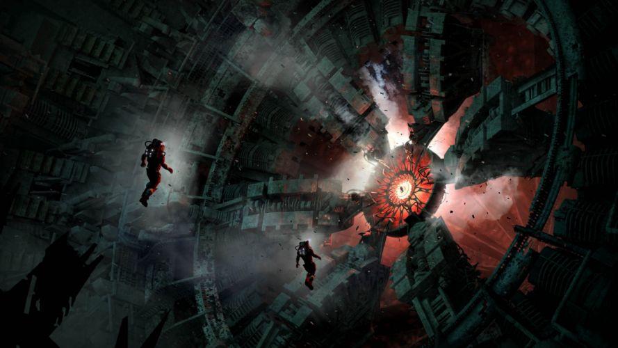 astronaut sci-fi space art artwork technics spaceship planet wallpaper
