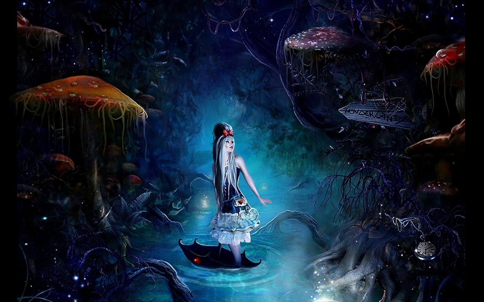 Alice In Wonderland Artwork wallpaper