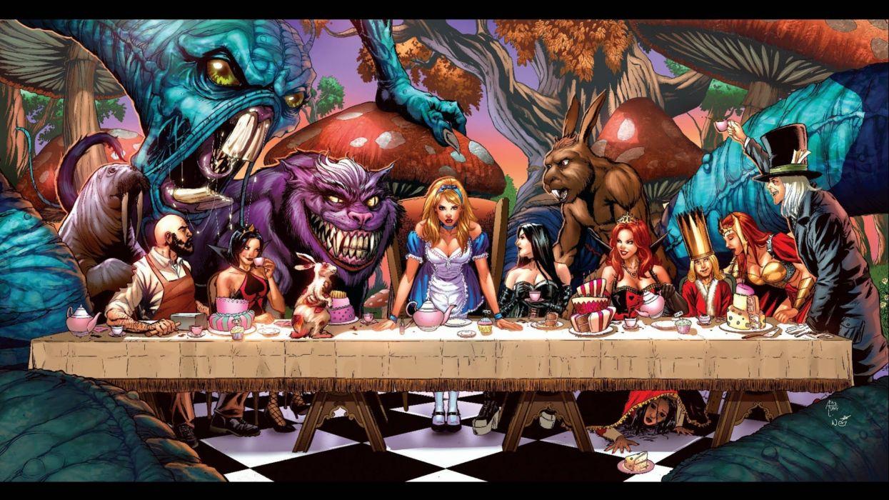 Alice Wonderland fantasy art artwork fairytale fairy d wallpaper
