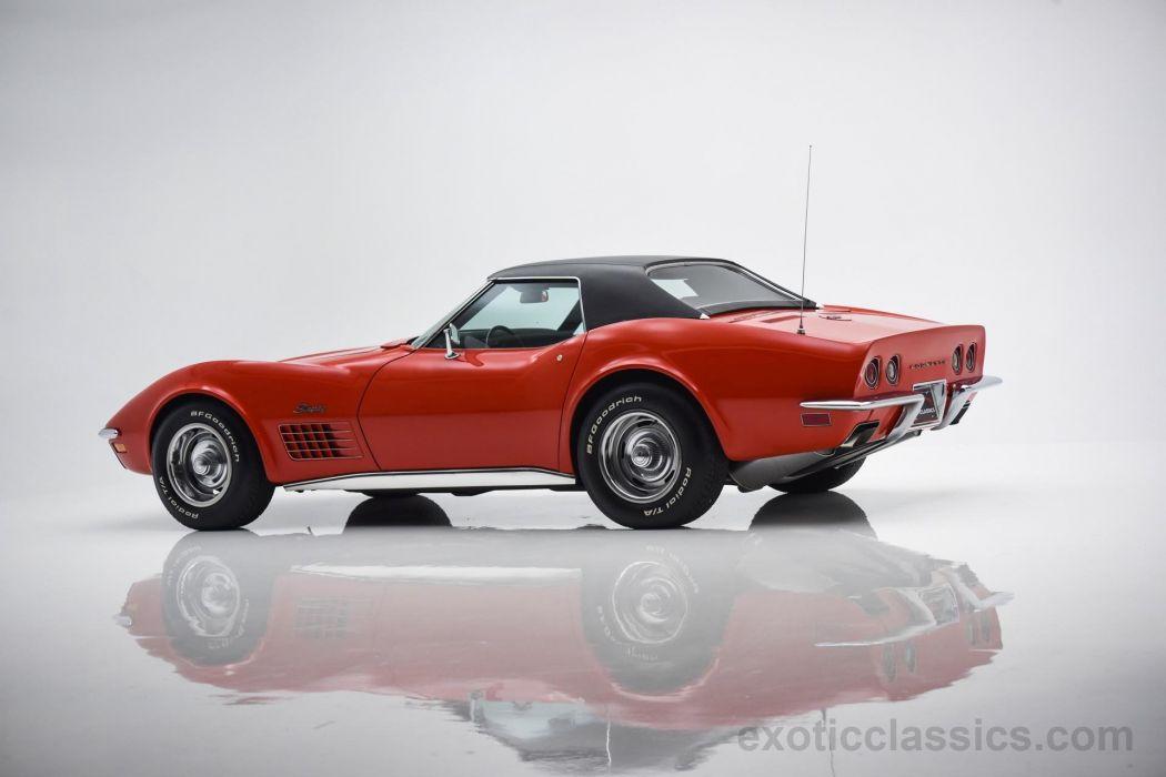 1970 chevrolet corvette stingray c3 convertible classic cars red wallpaper