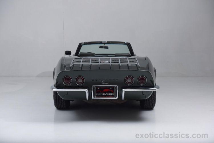 1969 chevrolet corvette stingray c3 convertible classic cars dark green wallpaper