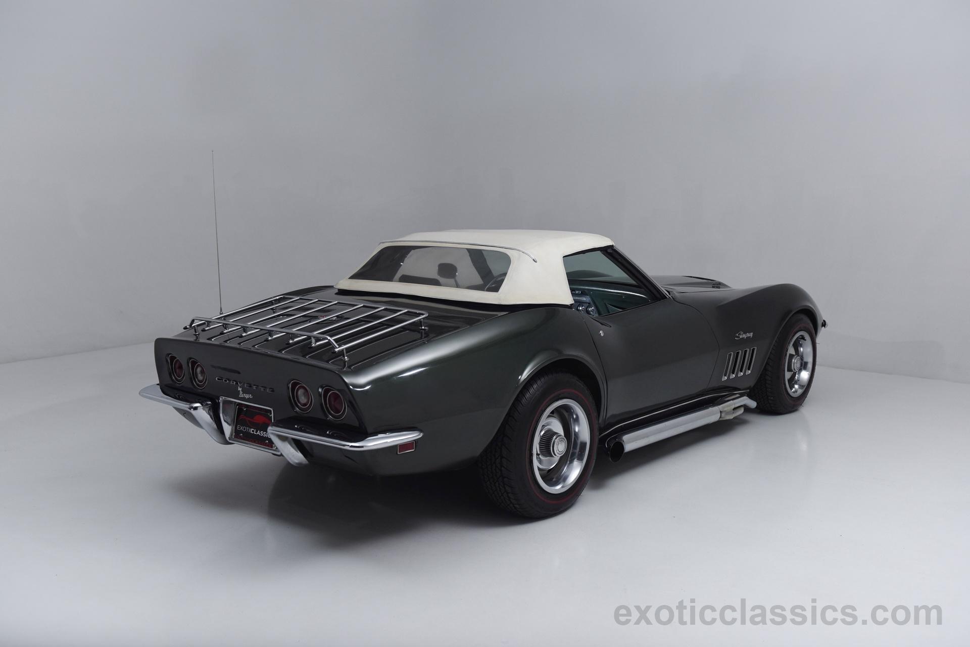 1969 chevrolet corvette stingray c3 convertible classic cars dark green wallpaper 1920x1280 699340 wallpaperup - Corvette Stingray 1969 Wallpaper