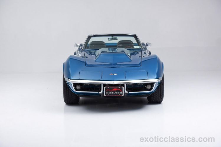 1968 chevrolet corvette stingray c3 convertible classic cars blue wallpaper