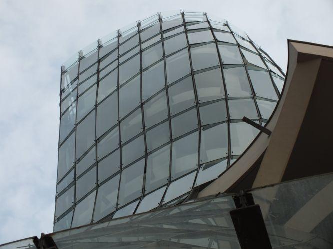 architecture building glass curves wallpaper