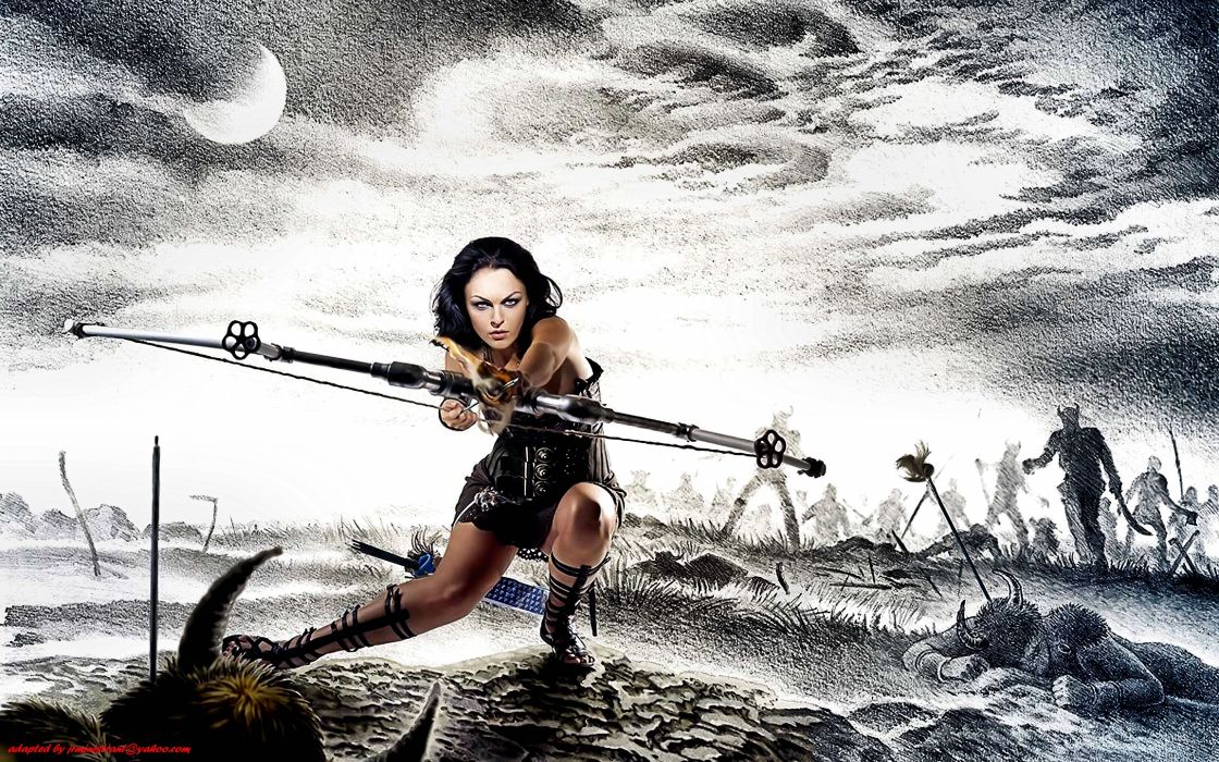 archer warrior art artwork fantasy weapon wallpaper
