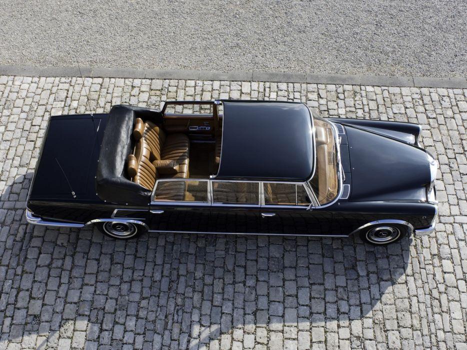 Mercedes Benz 600 Pullman Landaulet black classic cars 1965 wallpaper