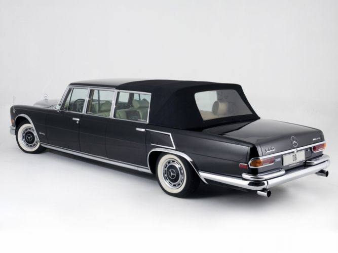 Mercedes Benz 600 Pullman Landaulet black classic cars 1965 wallpaper