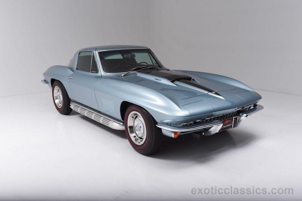 435 COUPE c2 stingray classic cars blue wallpaper