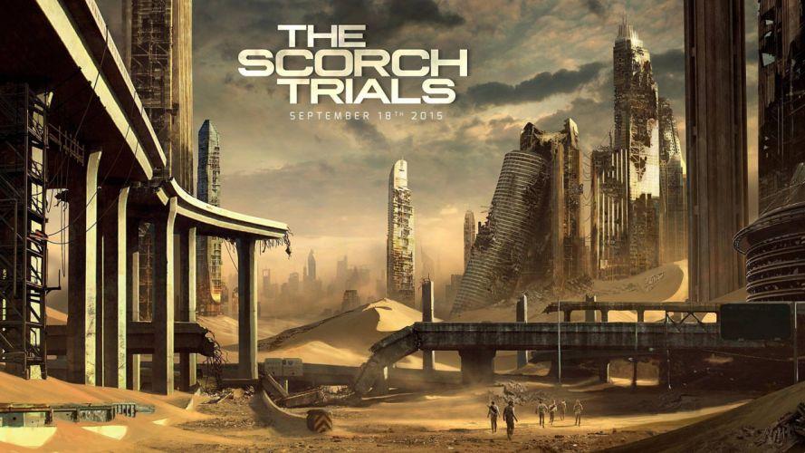 MAZE RUNNER Scorch Trials action adventure mystery sci-fi fantasy 1mrst poster wallpaper