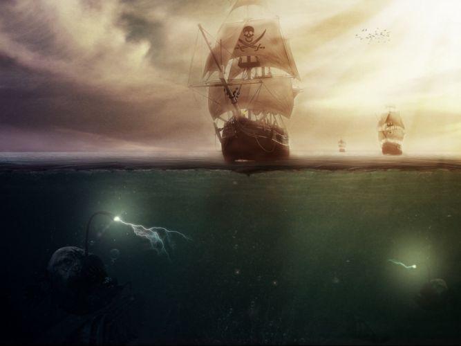 fantasy art artwork artistic original pirate pirates wallpaper