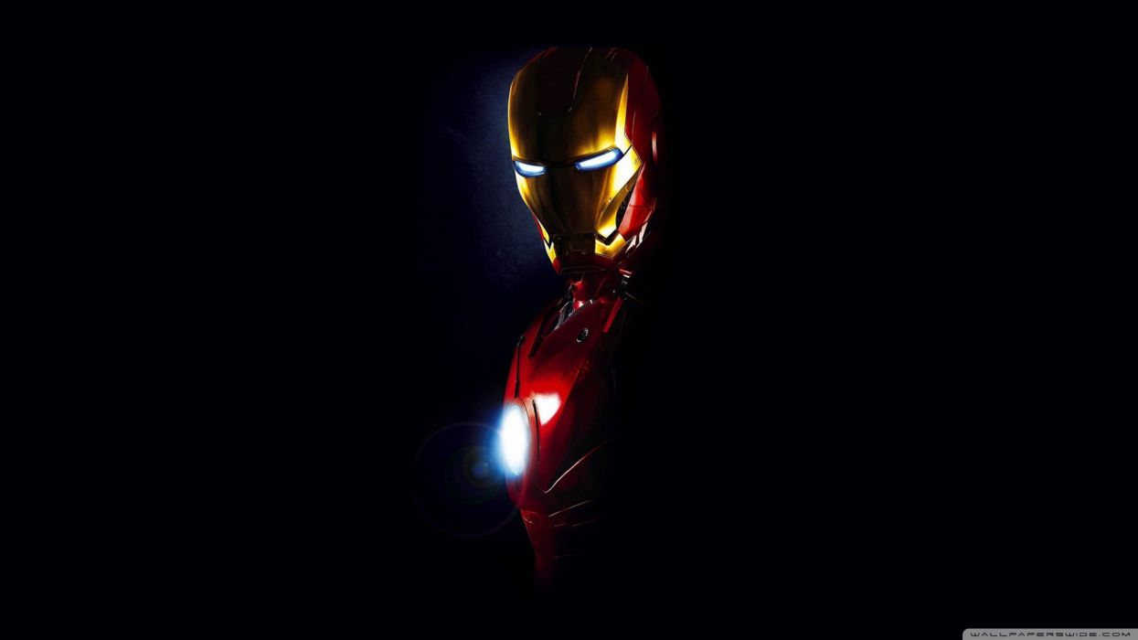 Iron Man standing in the smoke wallpaper Movie wallpapers