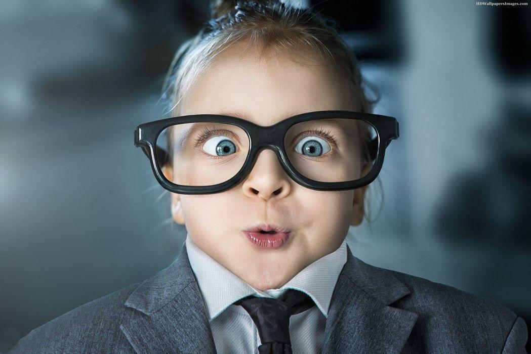 child girl suit wearing specs wallpaper