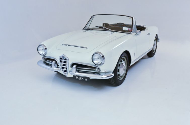 1964 Alfa Romeo Giulia 1600 Spider classic cars Bianca wallpaper