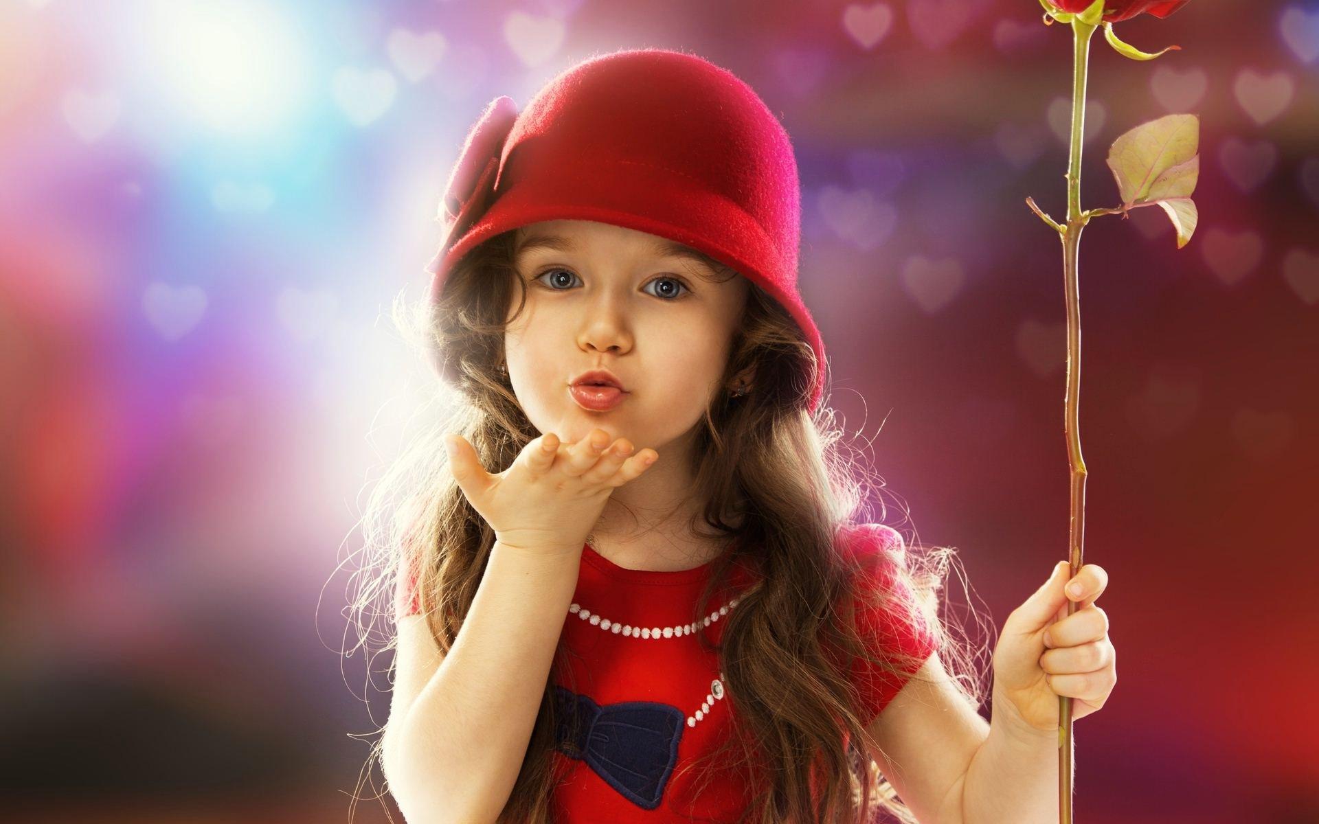 kiss baby child girl flying wallpaper 1920x1200
