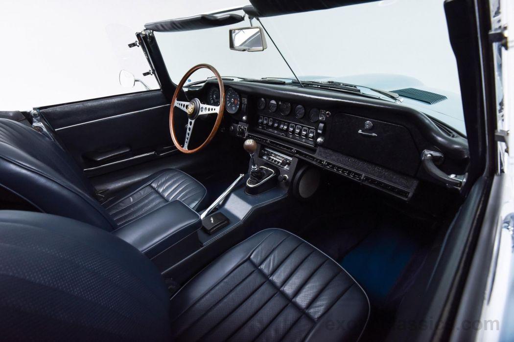 1969 Jaguar XKE Convertible cars classic blue wallpaper