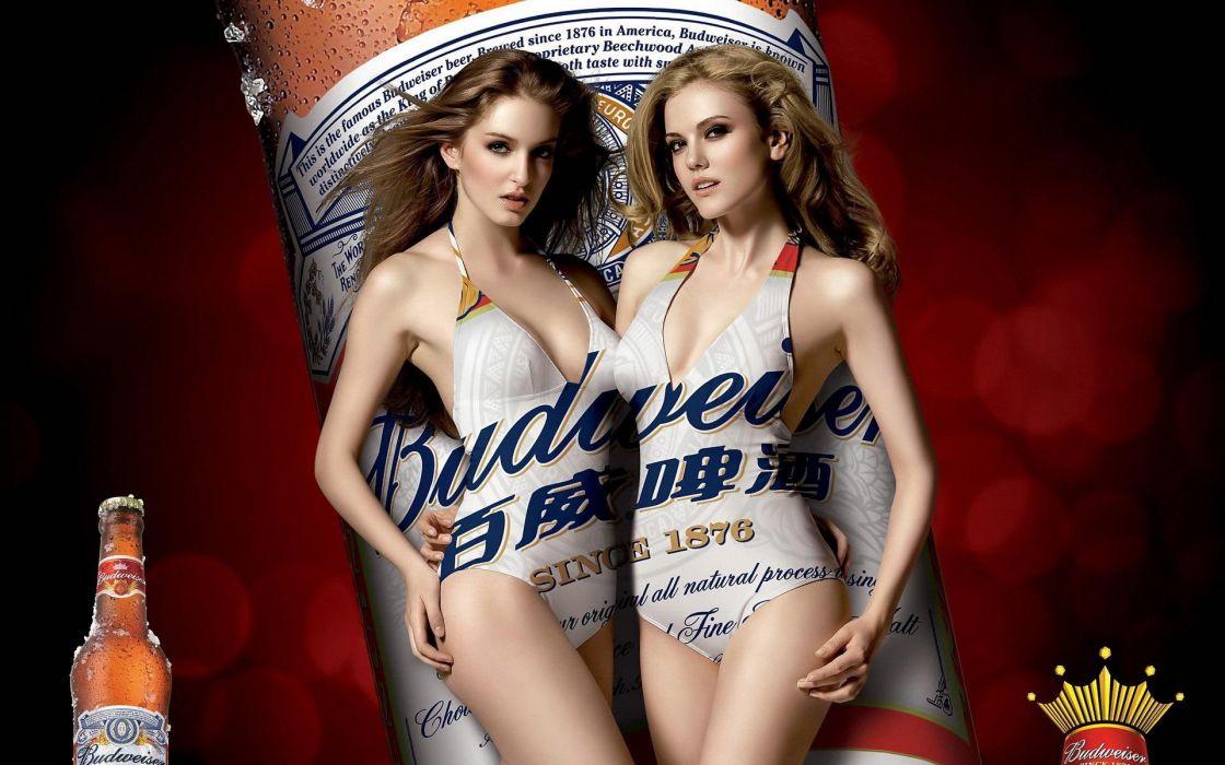 SENSULAITY - women girls blondes budweiser ince wallpaper