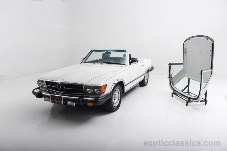 1984 Mercedes Benz 380-SL Roadster classic cars white wallpaper
