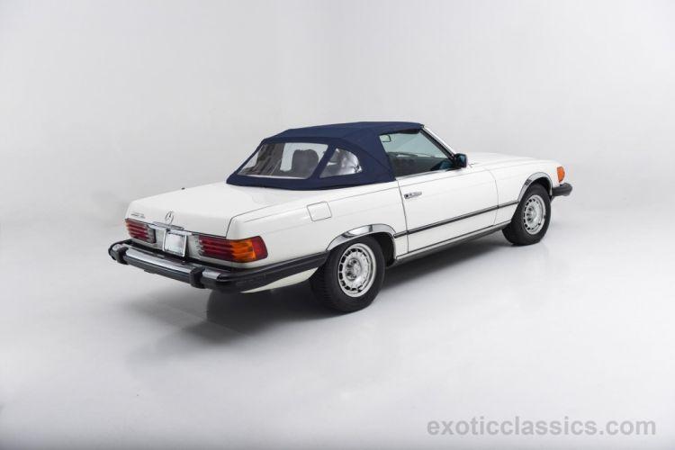 1984 Mercedes Benz 380-SL Roadster classic cars white wallpaper