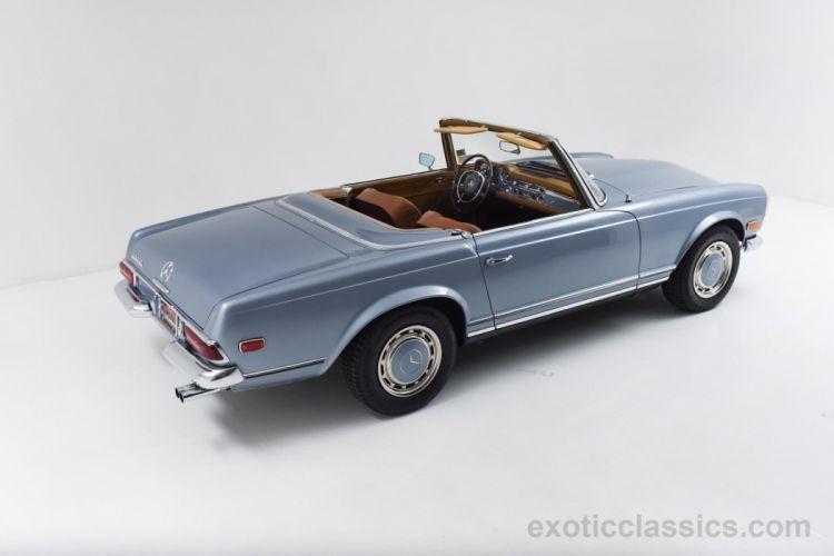 1969 Mercedes 280-SL Roadster cars classic blue wallpaper