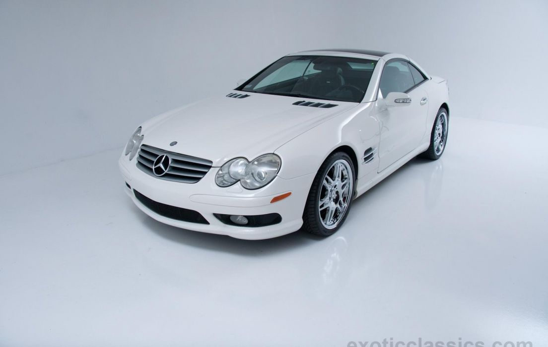 2003 MERCEDES SL-55 amg cars roadster white wallpaper