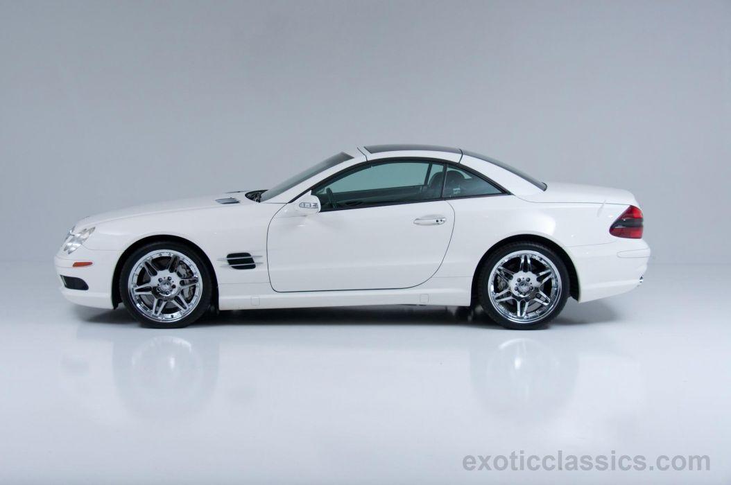2003 MERCEDES SL-55 amg cars roadster white wallpaper