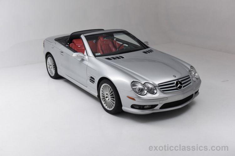 2004 MERCEDES SL-55 amg cars roadster silver wallpaper