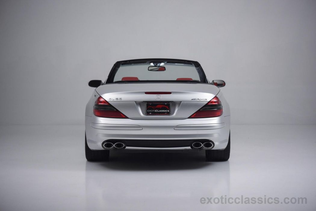 2004 MERCEDES SL-55 amg cars roadster silver wallpaper