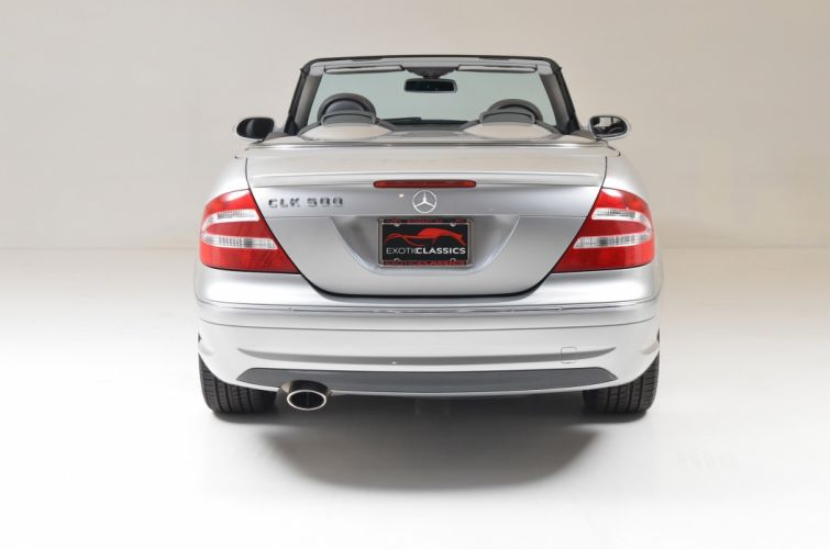 2005 mercedes CLK-500 Convertible Silver cars wallpaper