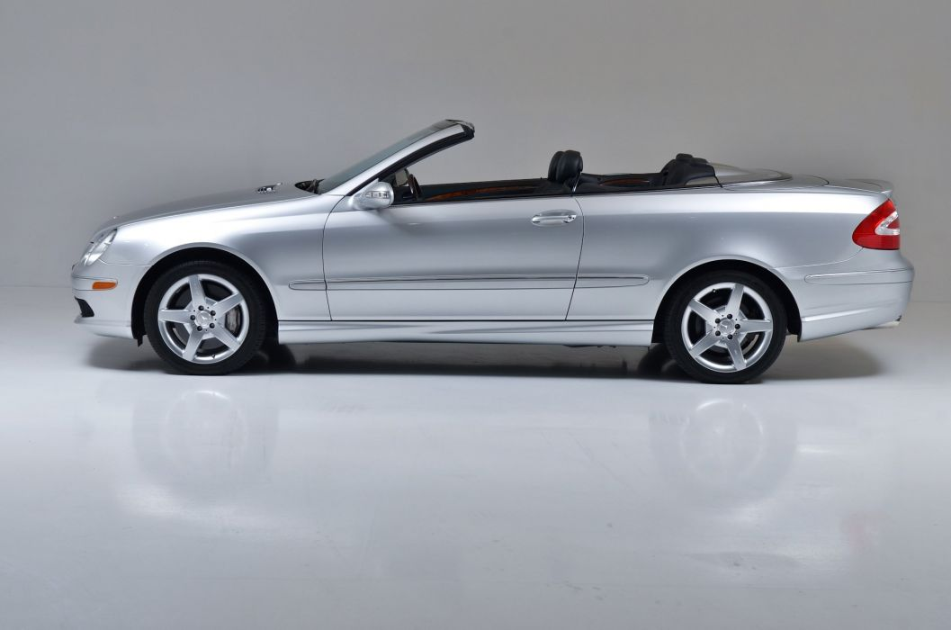 2005 mercedes CLK-500 Convertible Silver cars wallpaper
