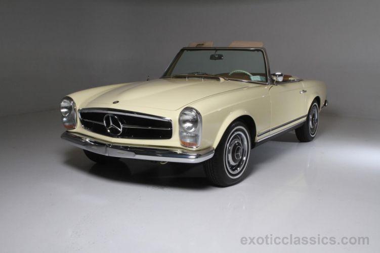 1966 mercedes 230-SL roadster cars classic wallpaper