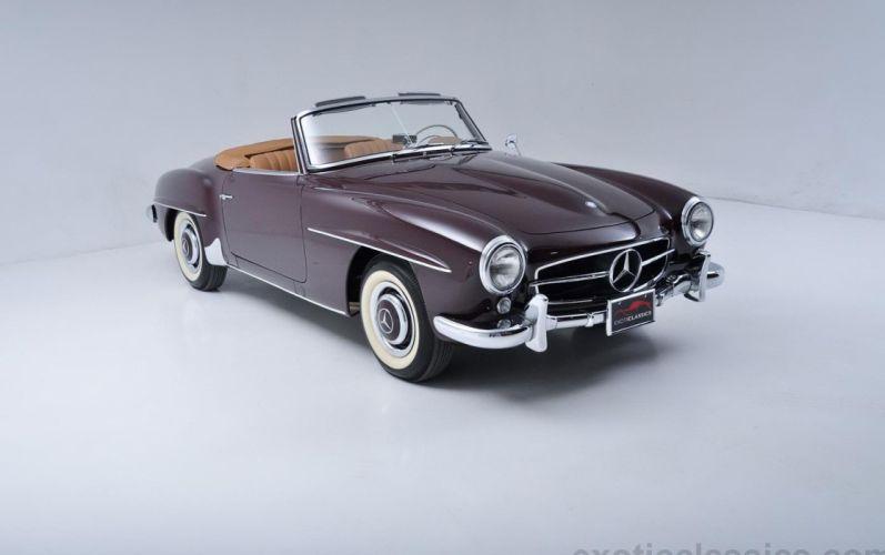 1957 Mercedes 190-SL roadster cars classic wallpaper