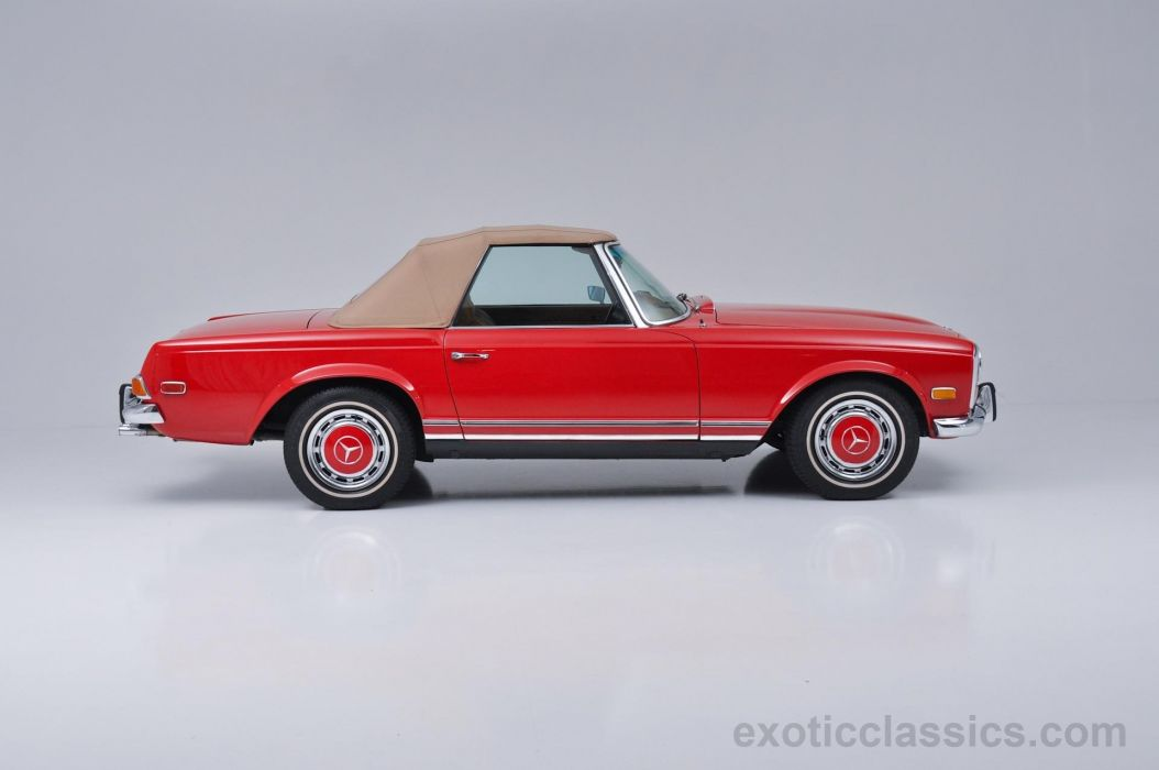 1970 Mercedes 280-SL classic roadster cars red wallpaper